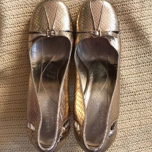Kate Spade Gold 3 inches Heels.